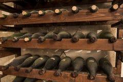 Alte Wein-Flaschen Stockfotografie