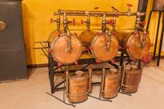 Alte Weinbrennerei Stockfoto