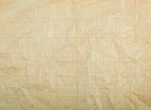 Alte Weinlese entfärbtes schmutziges Zeichenpapier mit Maßeinteilung Lizenzfreies Stockfoto
