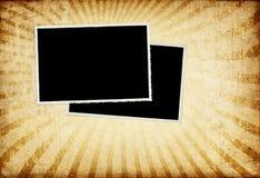 Alte Weinlese Fotokarten auf grunge Papier. Stockfotografie