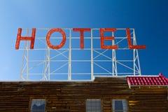 Alte Weinlese-Hotel-Zeichen-Zeichen Lizenzfreie Stockfotografie