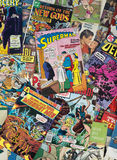 Alte Weinlese-Karikatur-Comic-Bücher Stockfotos