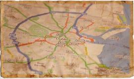 Alte Weinlese-Karte Stockbild