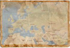 Alte Weinlese-Karte Stockbilder