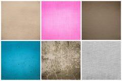 Alte Weinlese-Papier-Beschaffenheit eingestellt (blau, rosa, grau, Brown) Lizenzfreies Stockfoto