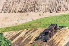 Alte Weinlese verlassene silberne Goldmine Stockfoto