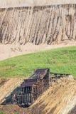 Alte Weinlese verlassene silberne Goldmine Stockfotografie