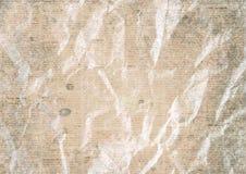 Alte Weinlese zerknitterter Zeitungspapier-Beschaffenheitshintergrund lizenzfreie stockbilder