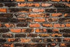 Alte Weinlesebacksteinmauer für Beschaffenheit oder Hintergrund Stockbild