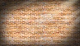 Alte Weinlesebacksteinmauer mit Tageslichteffekt Beschaffenheit und backgro Lizenzfreies Stockbild