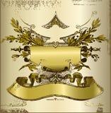Alte Weinlesefahne Stockfotos