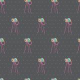 Alte Weinlesekamera nahtloser Hintergrund. Vektorillustration. Meer Lizenzfreies Stockbild