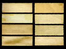 Alte Weinlesepapierfahnen stellten lokalisiert auf Schwarzem ein Stockbild
