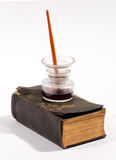 Alte Weinleseschreibensinstrumente Stockfotografie