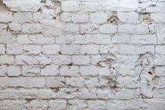 Alte Weinleseweißbacksteinmauer Stockbilder