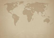 Alte Weltkarte Lizenzfreie Stockfotografie