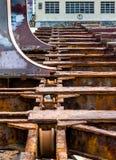 Alte Werftrampe veraltet Lizenzfreie Stockbilder