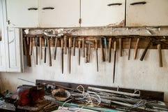 Alte Werkstatt Stockbilder