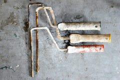 Alte Werkzeuge für das Malen Stockbilder