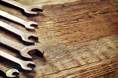 Alte Werkzeuge, Schlüssel Stockfotos