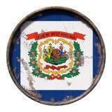 Alte West- Virginiaflagge Lizenzfreie Stockfotografie