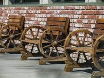 Alte Westsitzplätze der Weinlese im Freien stockbilder
