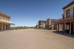 Alte wilde Westfilmbühne im Mescal, Arizona lizenzfreies stockfoto