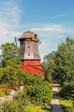 Alte Windmühle der niederländischen Art Lizenzfreies Stockbild