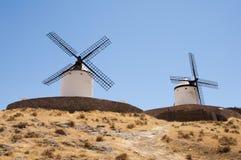 Alte Windmühle entlang der Anziehung quiquote Straße lizenzfreie stockbilder