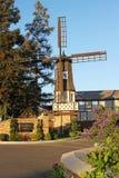 Alte Windmühle am Kronborg Gasthaus, Solvang Kalifornien Lizenzfreies Stockbild