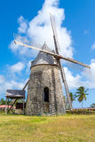 Alte Windmühle von Bezard in Marie Galante, Guadeloupe Stockfotografie