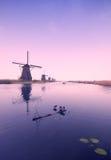 Alte Windmühlen Stockfotos