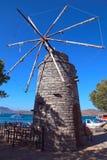 Alte Windmühlen auf Kreta, Griechenland Stockbild