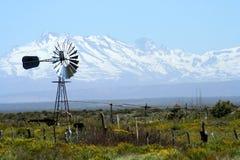 Alte Windturbine Stockfoto