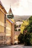 Alte wirkliche Schule in der Bergbaustadt Banska Stiavnica Lizenzfreie Stockfotos