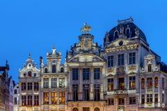 Alte Wohnungen in Grand Place Lizenzfreie Stockbilder