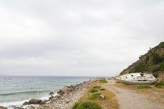 Alte Yacht aus den Grund Lizenzfreies Stockbild