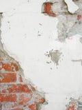 Alte, zackige Backsteinmauerbeschaffenheit Stockfoto
