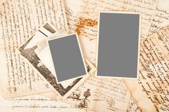 Alte Zeichen und Fotos Lizenzfreies Stockfoto