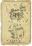 Alte Zeichnung der Kamera lizenzfreie stockfotografie