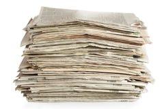 Alte Zeitungen Stockbilder