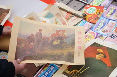 Alte Zeitungen und Bücher für Verkauf Lizenzfreies Stockbild
