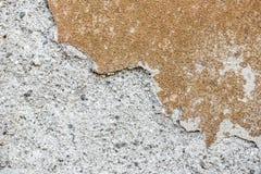 Alte Zementputzwand des Schmutzes der alten Hausbeschaffenheit Stockfoto