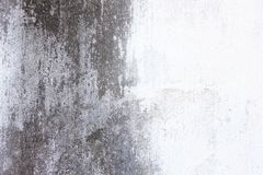 Alte Zementwand, Schwarzweiss Stockbild