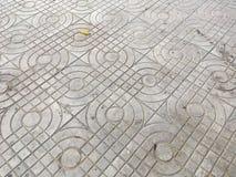 Alte Zementziegelstein-Bodenbeschaffenheit Lizenzfreie Stockfotos