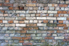 Alte zerbrochene Backsteinmauer Lizenzfreie Stockfotografie