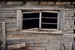 Alte zerbrochene Fensterscheibe Lizenzfreie Stockfotos