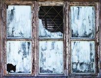 Alte zerbrochene Fensterscheibe Lizenzfreie Stockbilder