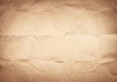 Alte zerknitterte, aufbereitete Beschaffenheit des braunen Papiers Lizenzfreie Stockfotos