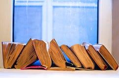 Alte zerschlagene Bücher Lizenzfreies Stockfoto